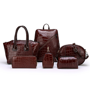 2020 crocodile pattern 6pcs handbags set 2019