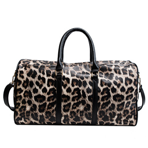 winter Leopard grain PU duffle bags travel bags